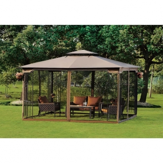 Beautiful Gazebo With Mosquito Netting Screened Canopy Gazebo Mosquito Free Net Outdoor Dine Party