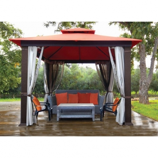 Delightful Gazebo With Mosquito Netting Stc Gz634 10 Ft 50 In X 10 Ft 50 In Gazebo Privacy Panels And