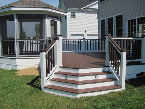 Incredible Screened Gazebo For Deck Open Freestanding Deck With Bench Seating Plus A Screened Gazebo