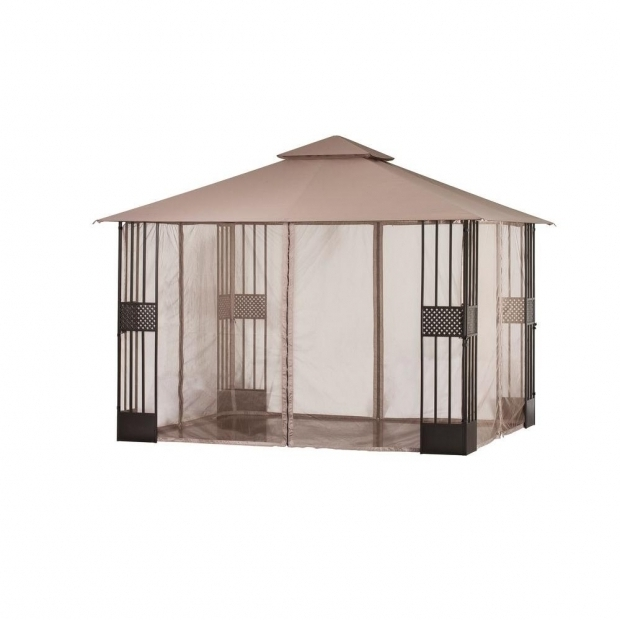 Marvelous Gazebo With Mosquito Netting Hampton Bay 12 Ft X 10 Ft Gazebo With Mosquito Netting D6081 Gz