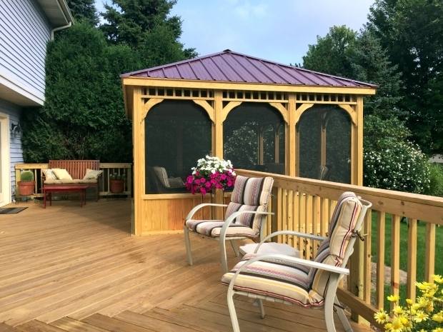 Marvelous Screened Gazebo For Deck Gazebo Design Ideas Archadeck St Louis Decks Screened