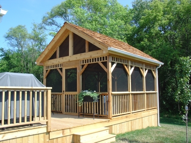 Screened in gazebo pergola gazebo ideas for Screen room plans