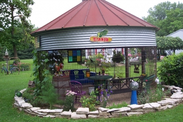 Picture Of Wire Corn Crib Gazebo The Garden In Country Pinterest