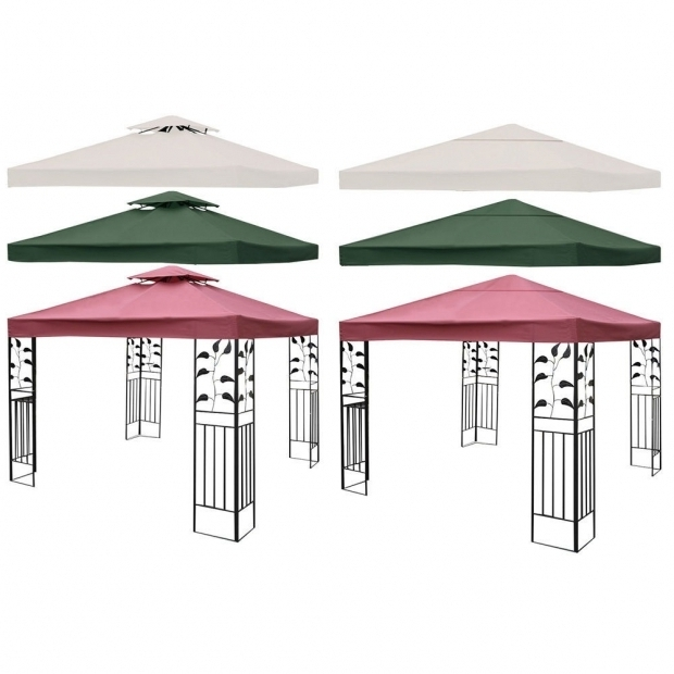 Remarkable Gazebo Canopy Replacement Covers 10x10 Two Tier 10 X 10 Gazebo Top Cover Patio Canopy Replacement 1 Tier Or 2