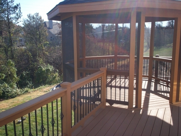 Stunning Screened Gazebo For Deck Gazebos St Louis St Louis Decks Screened Porches Pergolas