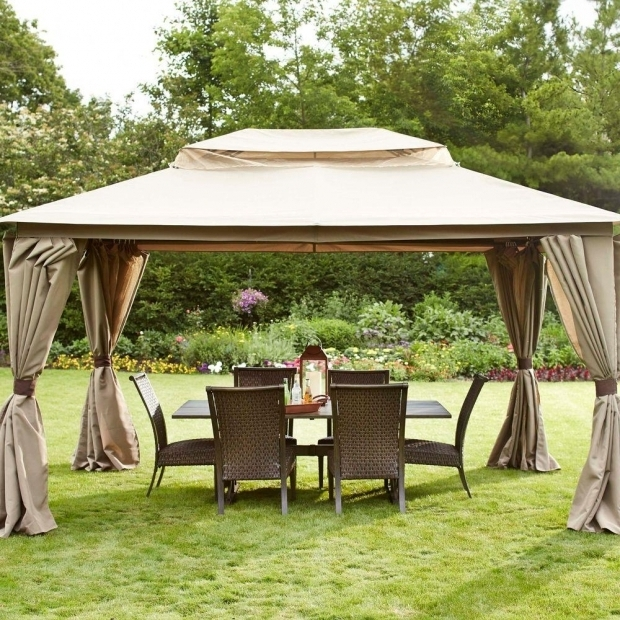 Wonderful Gazebo With Mosquito Netting Hampton Bay Gazebo With Double Top And Mosquito Netting D6114 Gz