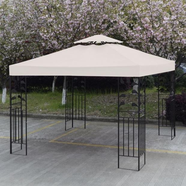 Beautiful 10x10 Gazebo Frame Convenience Boutiqueoutdoor 10 X Patio Canopy Top