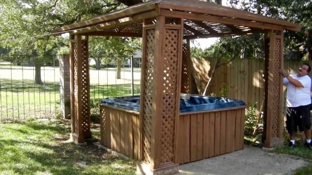 Wooden Gazebo For Hot Tub