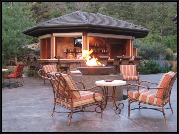 Screened In Gazebo With Fire Pit