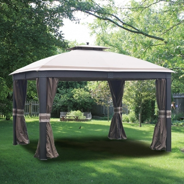 Alluring Allen Roth 10x12 Gazebo Garden Winds Replacement Canopy Top For Allen Roth Wicker 10x12