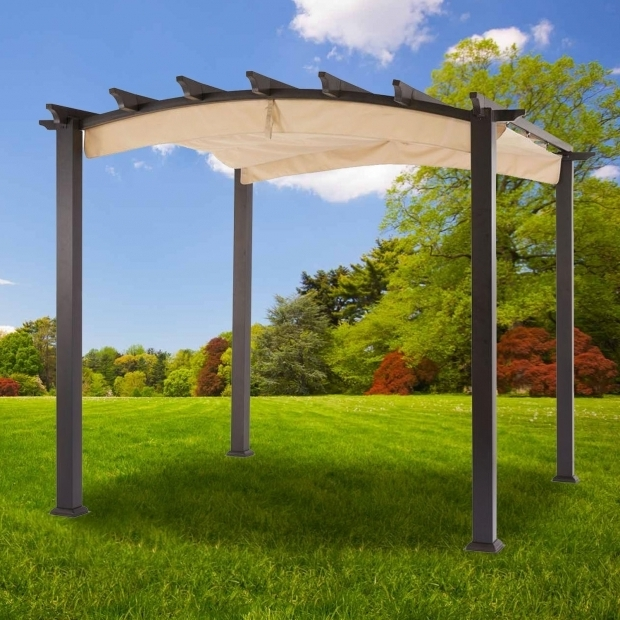 Hampton Bay Arched Pergola With Canopy