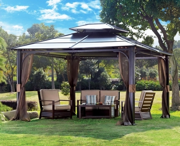 Awesome Metal Gazebo Roof Ideas Amazon 10 X 12 Chatham Steel Hardtop Gazebo Patio Lawn