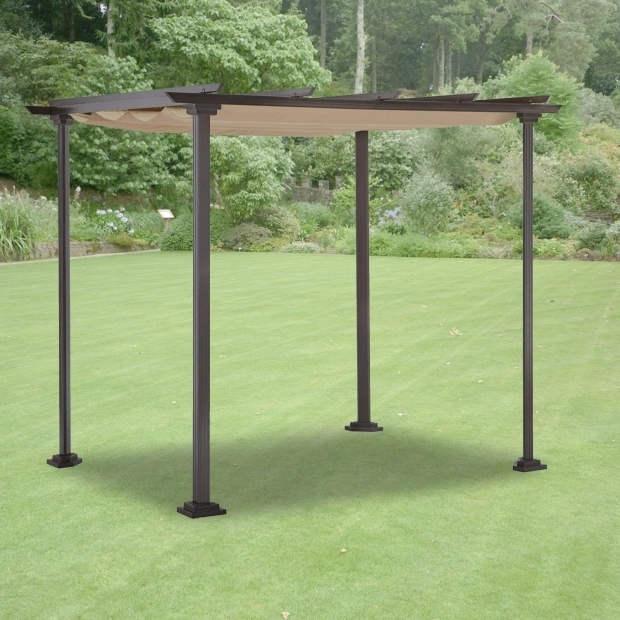 Delightful Hampton Bay Pergola With Retractable Roof Replacement Canopy And Cover For Home Depot Pergolas