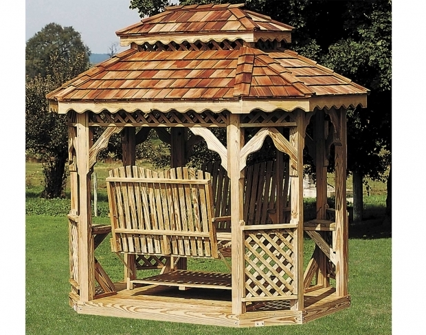 Fantastic Gazebo With Swings Face To Face Glidersswings