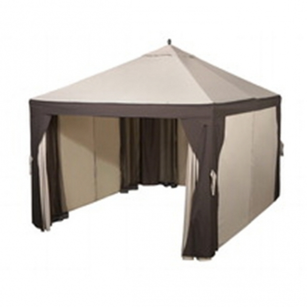 Fascinating Garden Treasures Gazebo 10x12 Shop Garden Treasures 10 Ft X 12 Ft Brown Steel Gazebo At Lowes