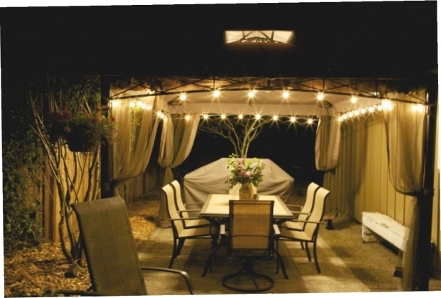 Gazebo With Solar Lights