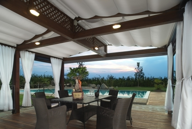 Outstanding Pergola With Fabric Pergola Fabric Roof Retractable Couture Outdoor