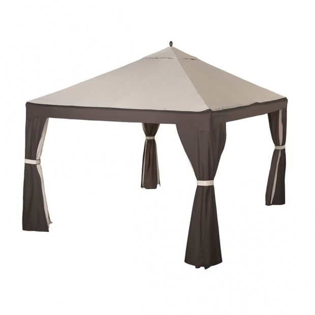 Stunning Garden Treasures Gazebo 10x12 Lowes 10 X 12 Gazebo Replacement Canopy 8 Bar Garden Winds