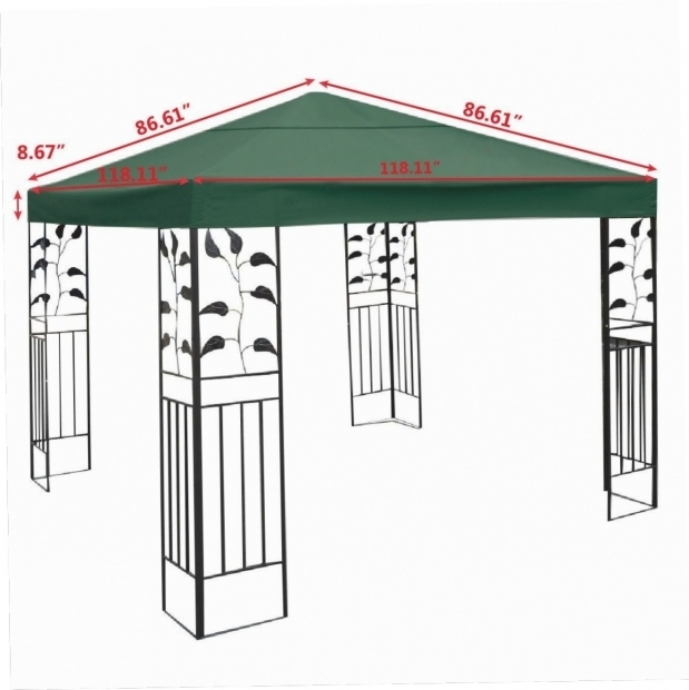 Alluring 10x10 Gazebo Canopy Replacement Covers Interior Design Interior Design 10 X 10 Gazebo Top Cover Patio