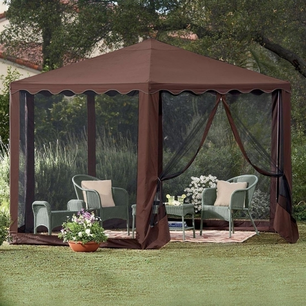 Delightful Screened Gazebo With Fire Pit Cheap Cheap Gazebo Tent With Screen Garden Landscape