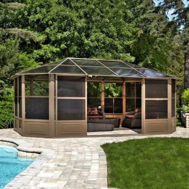 Incredible Lowes Patio Gazebo Shop Gazebos Accessories At Lowes