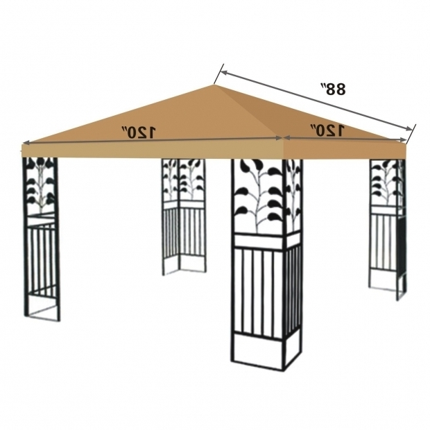 Stunning 10x10 Gazebo Canopy Replacement Covers Interior Design Interior Design 10 X 10 Gazebo Top Cover Patio